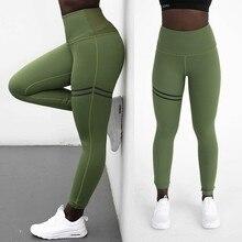 Women Yoga Pants Fitness High Elastic Sport Leggings Tights Slim Running Sportswear Pants Women High Waist Quick Drying Gym