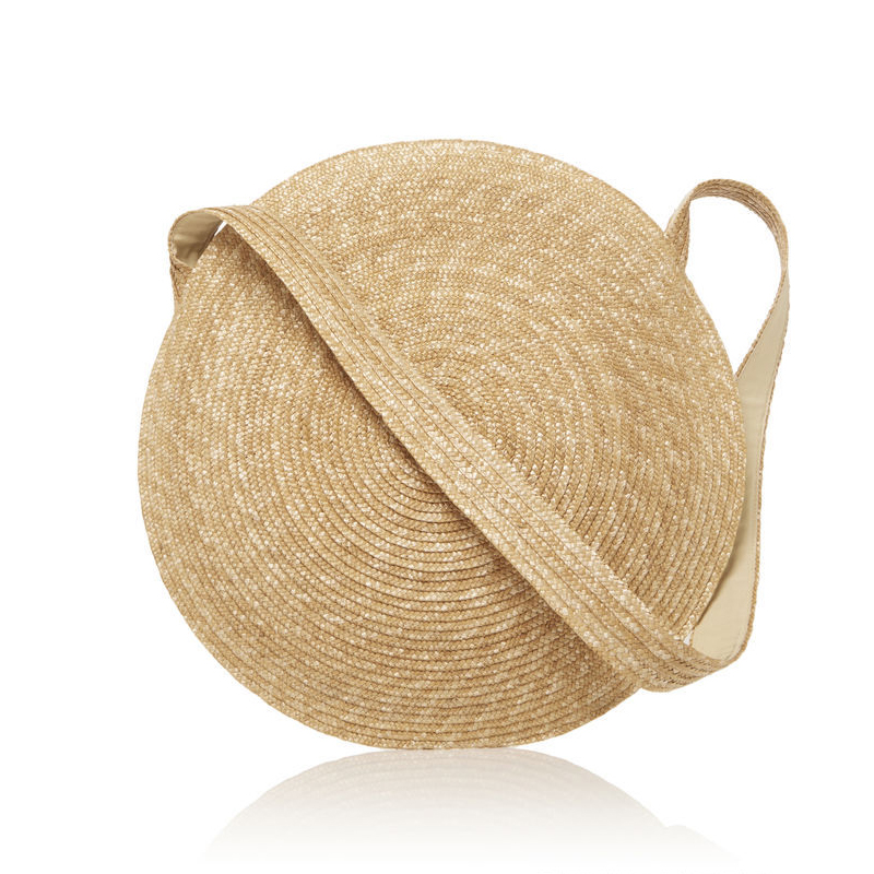 Designer Women Messenger Bag Vintage Travel Handbags Big Circle Straw Bag Luxury Women Summer Bags for Large Beach bag