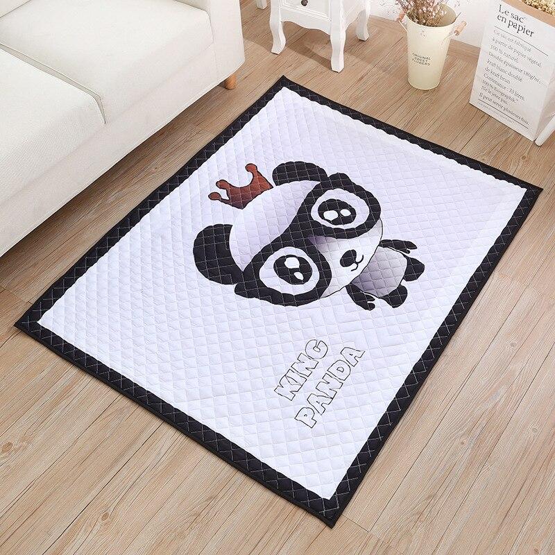 Washable Play Rugs: Infant 140X120CM Baby Play Mats Panda Cartoon Blanket
