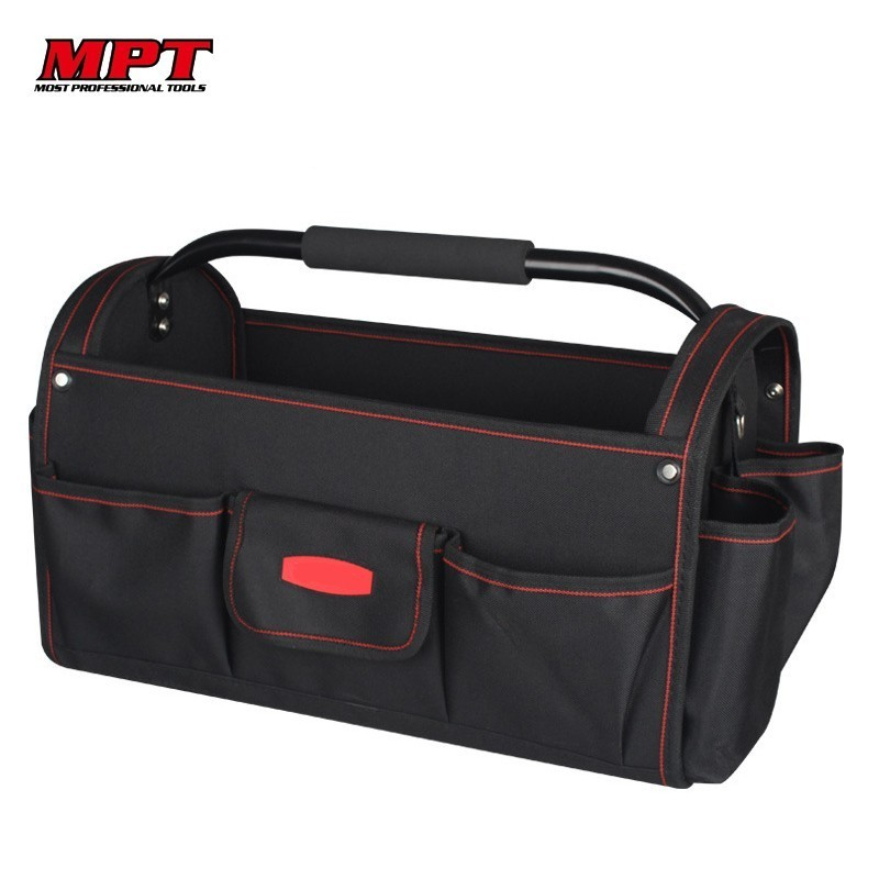MPT 18 Inch Open Top 600D Polyester Shoulder Tool Bag Handbag Organizer Storage Waterproof Men Travel Bags Large Bags Toolkit