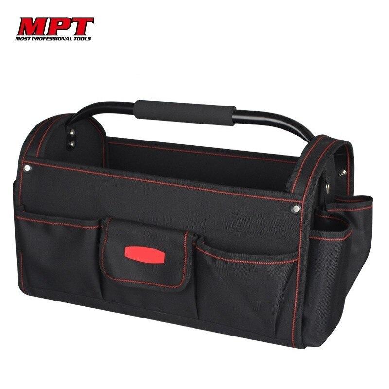 MPT 18 pouces Open Top 600D Polyester sac à bandoulière sac à main organisateur stockage étanche hommes sacs de voyage grands sacs boîte à outils