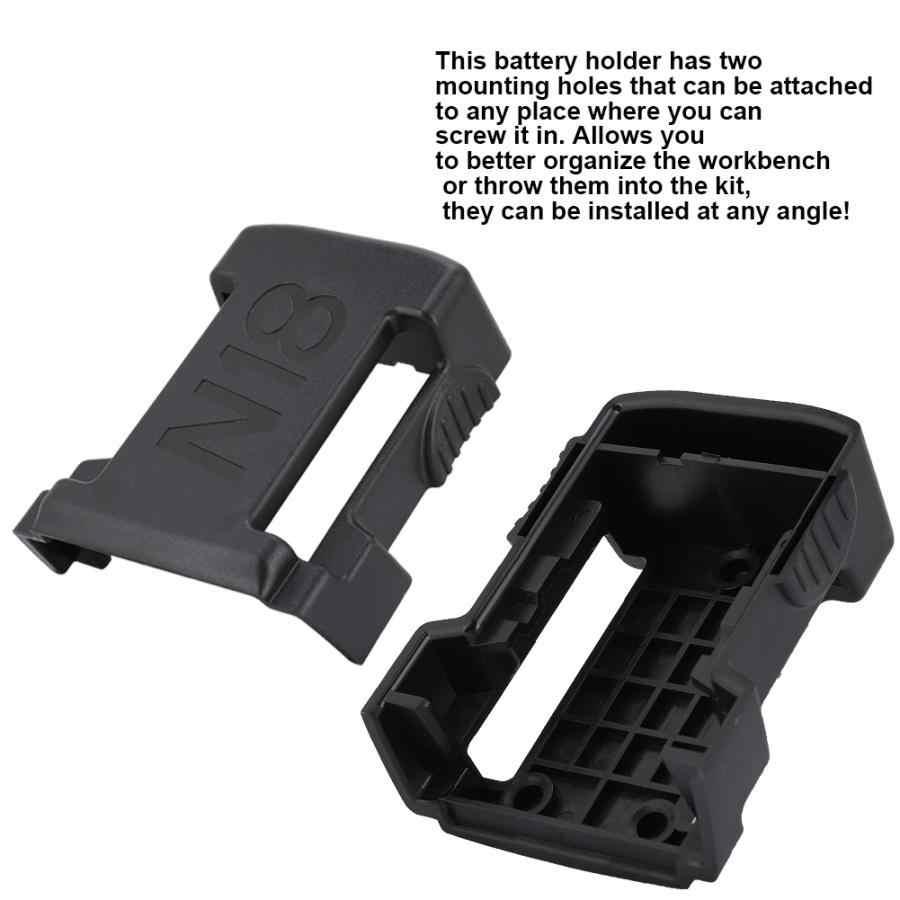 1P Battery Tray,18v Batteries Battery Tray Kit,Mount,Holder for Milwaukee,Under Shelf Mount