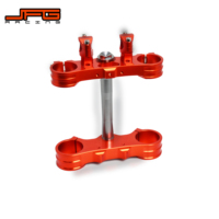 Motorcycle Aluminum Triple Tree Clamps Steering Stem And Bar Mount For KTM SX SXF EXC EXCF XCW XCFW 125 250 350 450 530 00 14