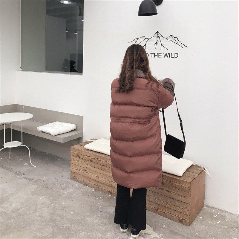 Veste Couture Manteau Brick black Long Red Femmes unis Agneau Europe Épais 2018 Hiver Rétro apricot Laine Lâche Tempérament De Etats Chaud Mode wUqXUOFT
