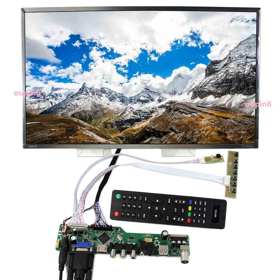 "Zestaw do LP156WH3 (TL) (T2) kontroler płyta sterownicza 40pin LVDS 15.6 ""telewizor z dostępem do kanałów AV 1366X768 Panel ekran LCD LED USB HDMI VGA pilot zdalnego"