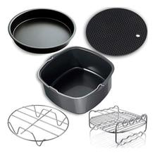 Air Fryer Accessories, Air Fryer Accessories and Air Fryer Accessories Fit for all 3.7QT-5.3QT-5.8QT,Set of 5-7 inch