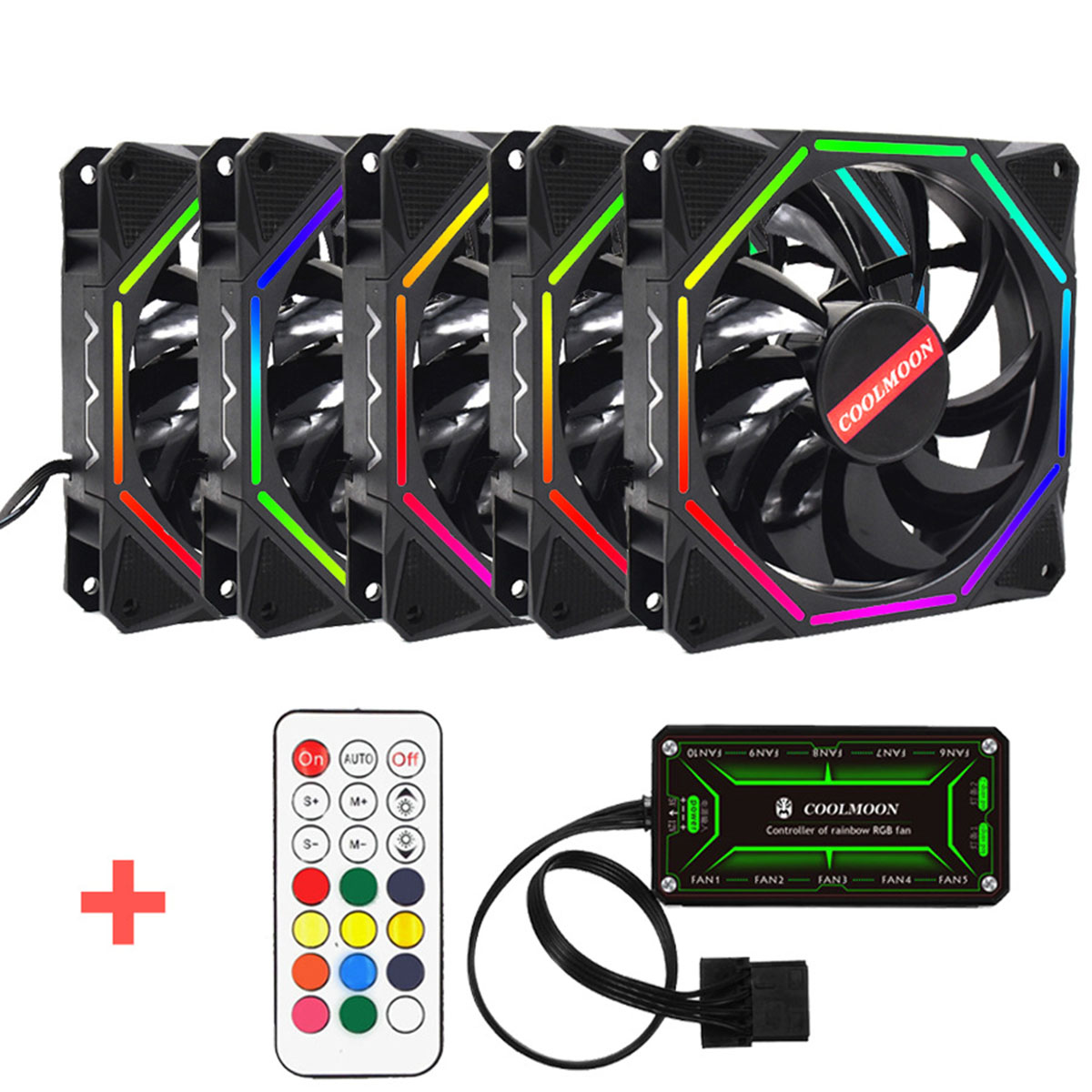 S Skyee Computer Case Pc Cooling Fan Rgb Adjustable Led