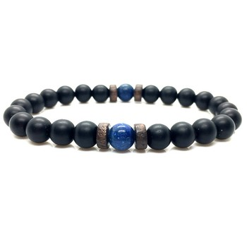 Natural Moonstone Bead Men Bracelet 2
