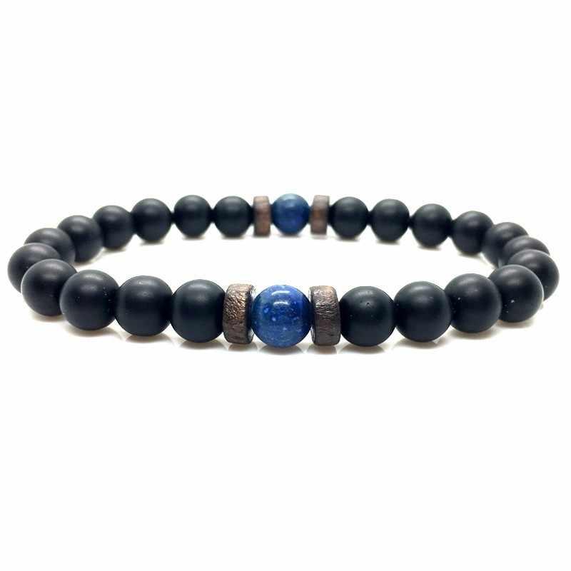 27a304adbe70 Pulsera de hombre, cuentas de piedra de luna Natural, pulsera de Buda  tibetana, pulseras difusoras de piedra de Lava, pulseras para hombre,  joyería, ...