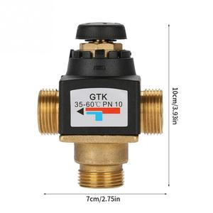 Image 2 - Hot 1Pc 3 Way DN20 Male Thread Brass Thermostatic Mixing Valve for Solar Water Heater