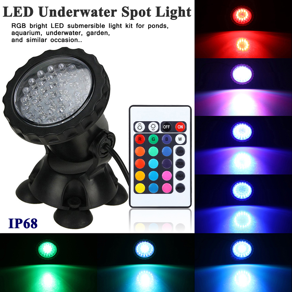 RGB LED Spotlight underwater light Garden Pond  Aquarium Light D30