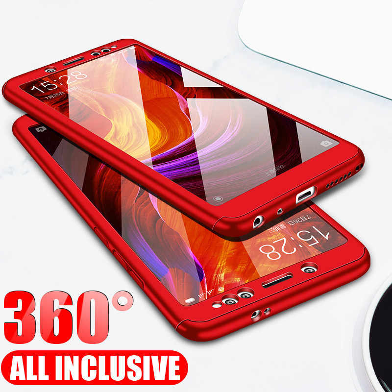 Front Back 360 Full Coverage Case For Redmi Note 7 6 Pro 5 4 4x 4a 5a 6a S2 With Glass For Xiaomi Mi 9 8 A1 A2 Lite Pocophone F1