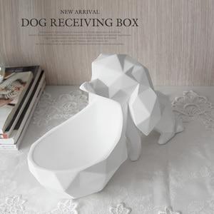 Image 5 - עיצוב הבית אביזרים שולחן שרף בעלי החיים פסל ממתקי מלאכות אגוז מפתח טלפון אחסון תיבת שרף כלב צלמית