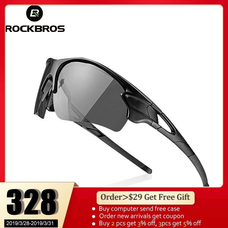 ab1aee11d749 ROCKBROS Polarized Photochromic Cycling Glasses Bike Glasses Outdoor Sports  MTB Bicycle Sunglasses Goggles Eyewear Myopia Frame
