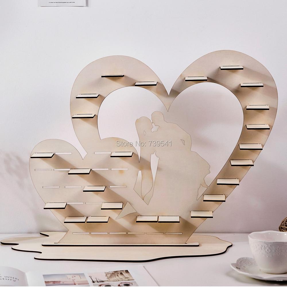 Ferrero Rocher chocolat arbre de mariage présentoir bonbons pyramide fête de célébration, coeur en bois mariage pièce maîtresse décoration
