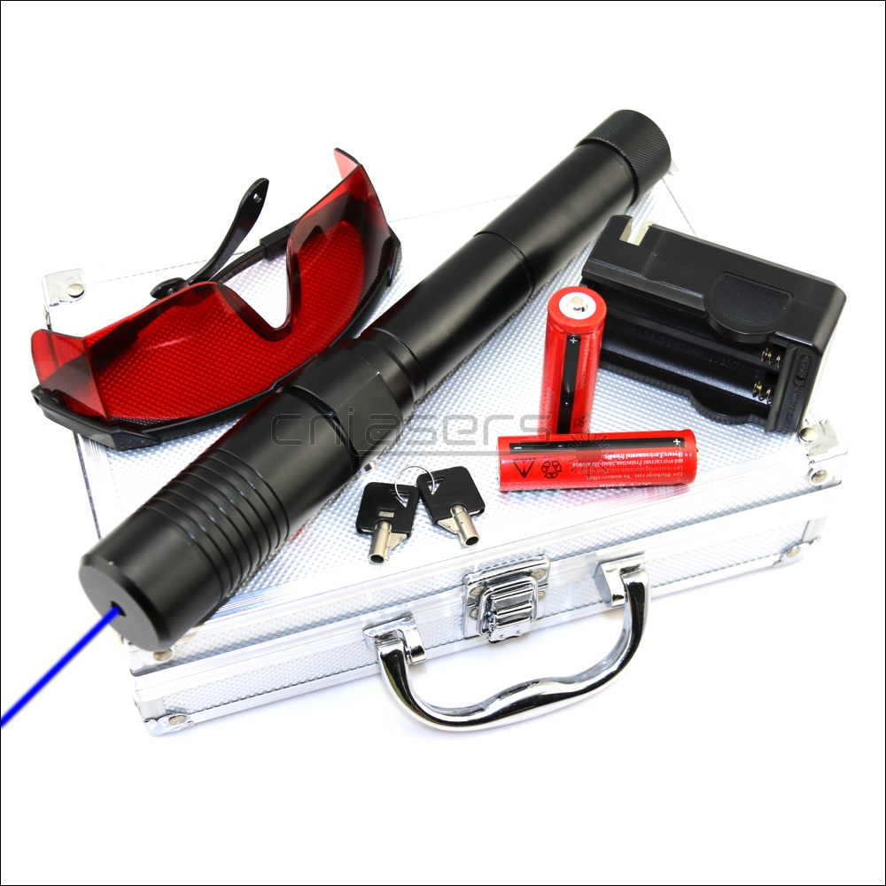 CNILasers BX1-II Adjustable Focus <font><b>450nm</b></font> BURNING <font><b>Blue</b></font> <font><b>Laser</b></font> <font><b>Pointer</b></font> Lazer Torch Pen Cigarette Lighter Camping Signal Lamp Hunting image