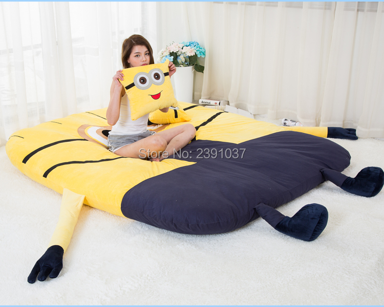 1.8×2.2m Funny Despicable Me Minions Sleeping Bag Sofa Bed Twin Bed Double Bed Mattress for Adult Oversized Beanbag Tatami Sofa-in Bean Bag Sofas from Furniture on Aliexpress.com | Alibaba Group