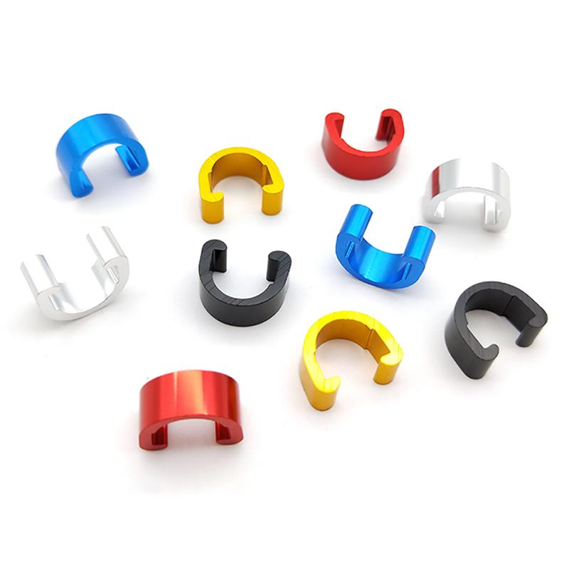 10Pcs MTB Bike Bicycle Frame Aluminum Alloy C Buckle For Brake Cable Hose Tube Shifter Cable Guides Button Fixed Tubing Clips