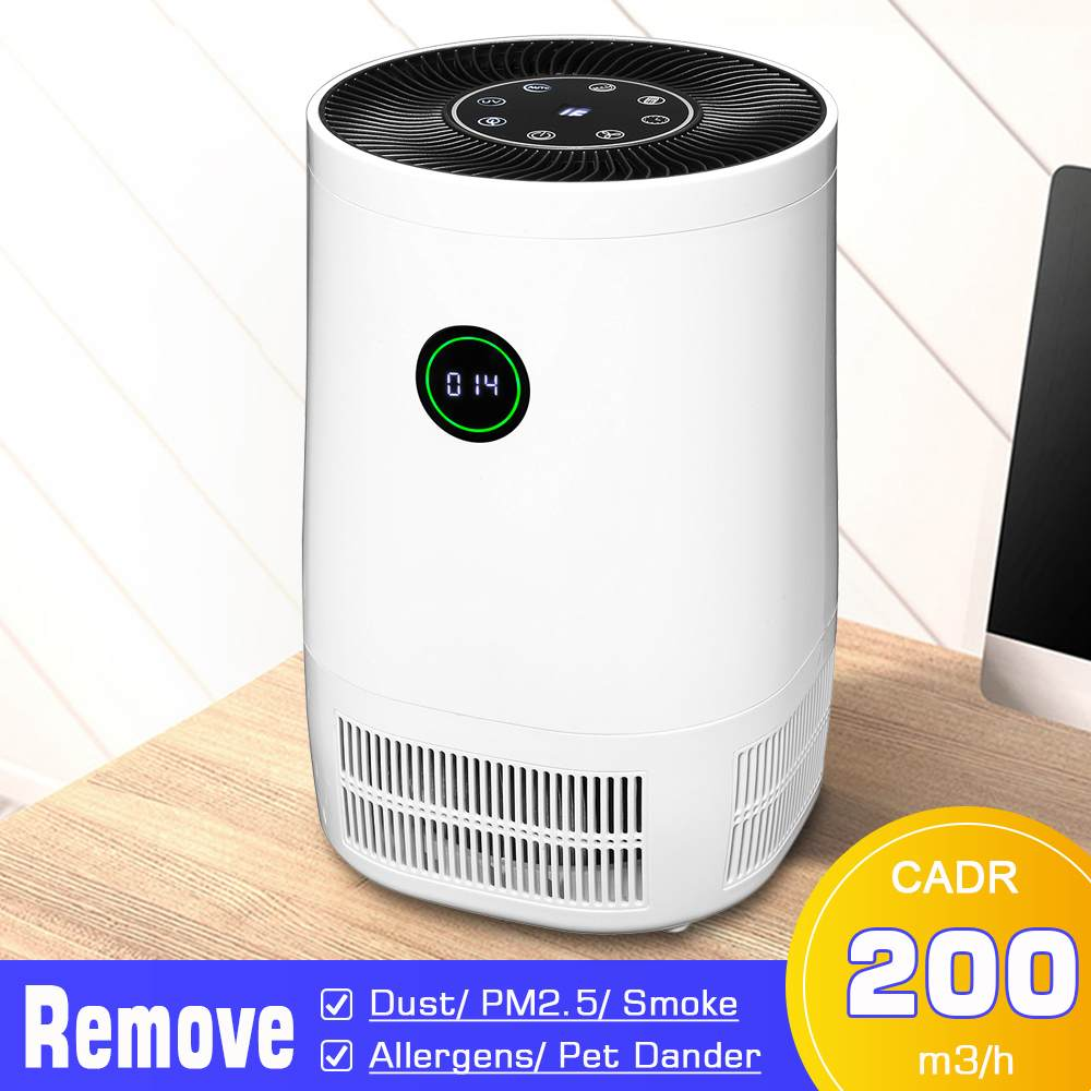 AUGIENB Air Purifier with True Hepa Filter Odor Allergies Eliminator for Smokers Air Cleaner for