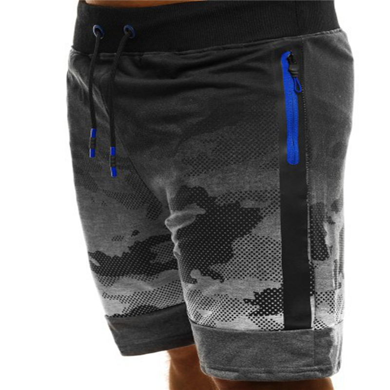 Print Shorts Drawstring Fitness Camouflage Fashion Dot Slim Casual Loose Five-Points