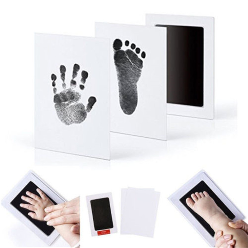 Hot Newborn Baby Souvenirs Inkless Wipe Baby Kit-Hand Foot Print Keepsake Footprint Handprint Hand Footprint Makers New Arrival