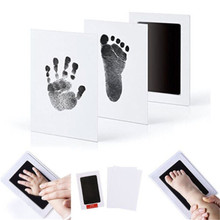 Hot Newborn Baby Souvenirs Inkless Wipe Baby Kit-Hand Foot Print Keeps
