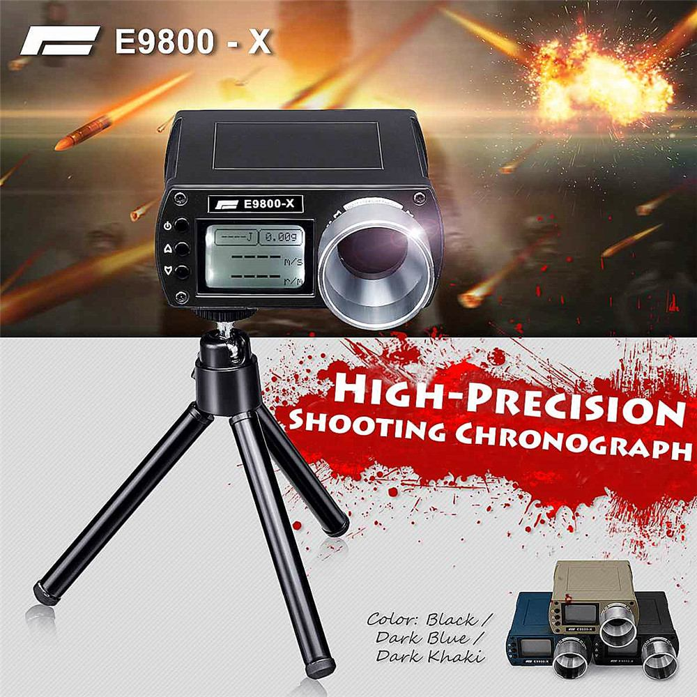 E9800-X testeur de vitesse de prise de vue haute précision Airsoft BB chronographe de prise de vue-10C à 50C 0-500J tir-énergie cinétique écran LCD
