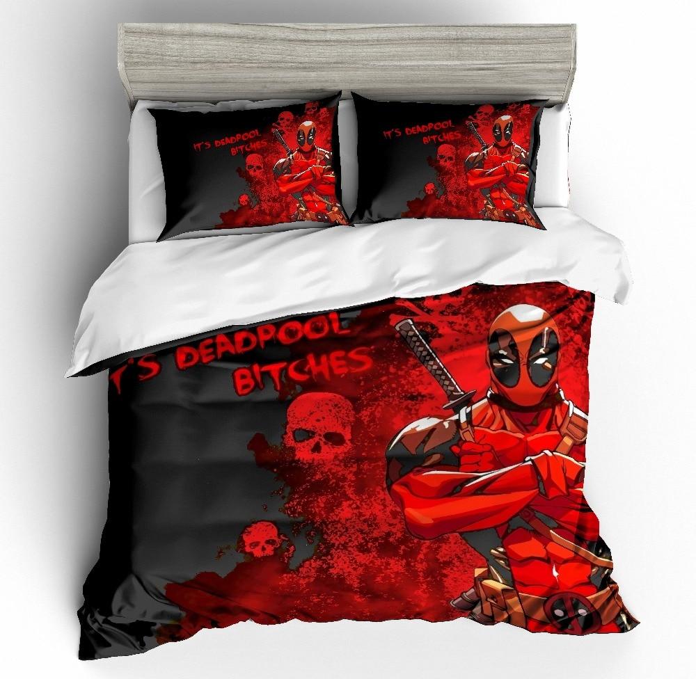 Marvel Super Heroes 3D printing bedding set Deadpoo comforter bedding sets duvet cover AU EU AU