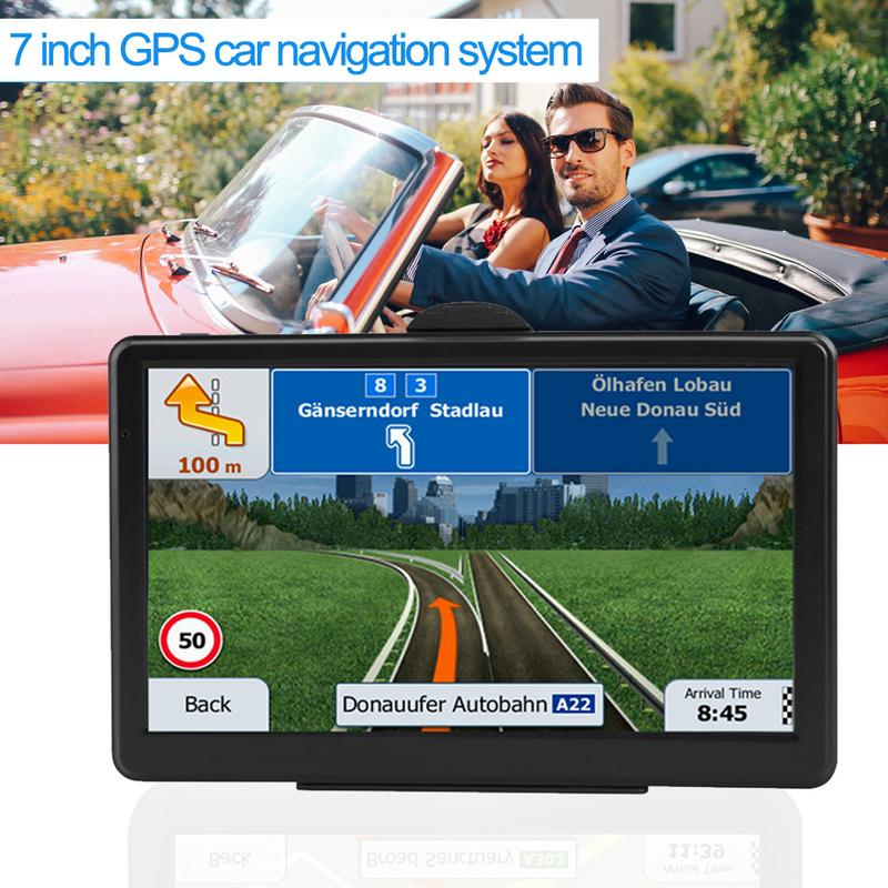 7-Inch Truck Navigator Touch Screen GPS Car Navigation System RAM256M+ROM8GB FM AV-IN SAT NAV With Map Sun Visor7-Inch Truck Navigator Touch Screen GPS Car Navigation System RAM256M+ROM8GB FM AV-IN SAT NAV With Map Sun Visor