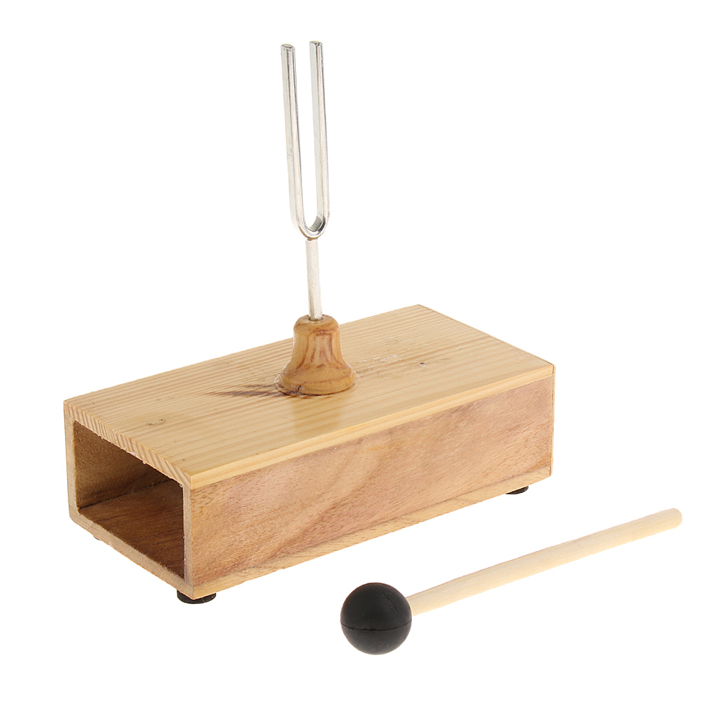 <font><b>440HZ</b></font> <font><b>Tuning</b></font> <font><b>Fork</b></font> with Wooden Resonant Box Musical Instrument Acoustic Study image
