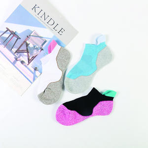 Ankle-Socks Linking Non-Slip-Terry Fashion-Color Cotton Women Casual Sport Machine DONG
