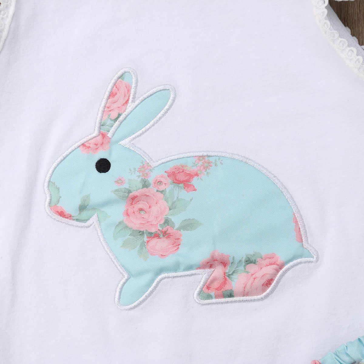 Mein 1st Ester bunny Kaninchen Infant Baby Mädchen Romper Tutu Kleid Ärmelloses Party Outfits Kleidung set für Neugeborene Kinder Kleidung