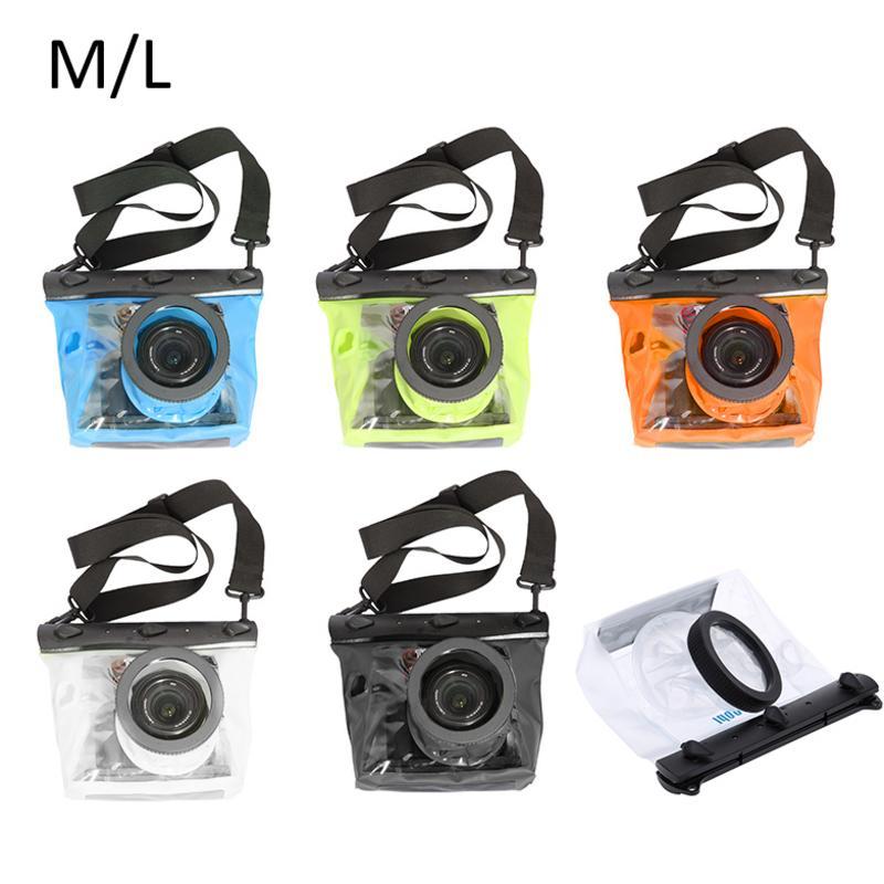 Camera Case GQ-518L Waterproof Pouch Diving Waterproof Bag For HD PVC SLR Camera Canon 600D 40D 60D 7D 5D For Nikon D80 D90 D700