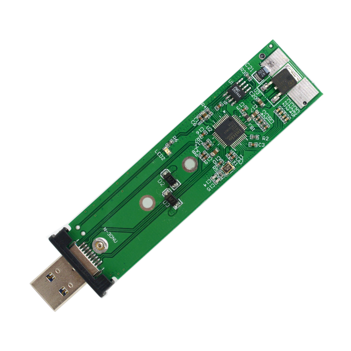 10pcs/lot CY 80mm NGFF M2 SSD to USB 3.0 External PCBA Conveter Adapter Card Flash Disk Type with Black Case