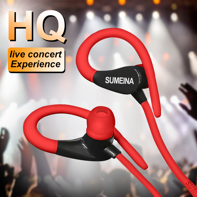 Wired earphone With Microphone Sport Headphone 3.5mm Universal For Android iphone Xiaomi Headset Portable Neckband Not Bluetooth
