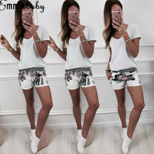 HIRIGIN 2019 New Arrival Women Girls Casual High Waisted Short Mini Loose Summer Beach Party Hot