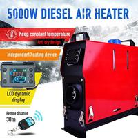 12V 5000W Car Heater Air Diesel Heater All in One Machine Single Hole LCD Monitor Heater Diesel Parking Warmer for Car Truck Bus