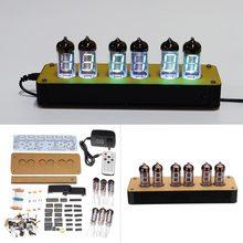 Набор флуоресцентных трубчатых часов «сделай сам», набор для самостоятельного изготовления, набор для вакуумных и флуоресцентных часов, VFD, VFD, набор для вакуумных часов с дисплеем