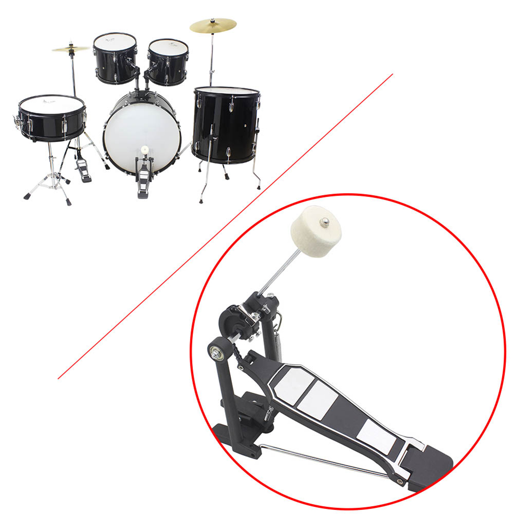 Stainless Steel Handle Felt M1 Lightweight Bass Drum Pedal Beater Percussion Instrument Drum Accessories