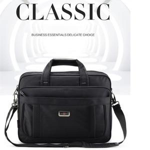 Image 2 - Volasss 2020 Klassische Aktentaschen Für Männer Handtaschen Hohe Qualität Wasserdichte Nylon Tuch Frauen Business Reise 15,6 Zoll Laptop Taschen