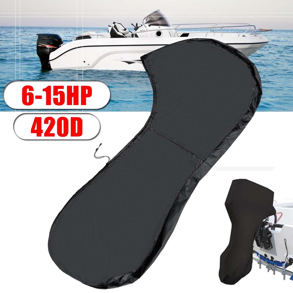 420d 110 Cm Bote Completo Fuera De Borda Motor Cubierta Para 6-15 Hp Barcos Motores A Prueba De Agua