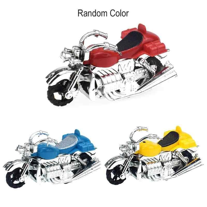 1 PC Anak-anak Sepeda Motor Model Mainan Anak Plastik Moto Sepeda Kendaraan Mainan Anak Laki-laki Mini Similation Menarik Kembali Sepeda Motor Hadiah Ulang Tahun