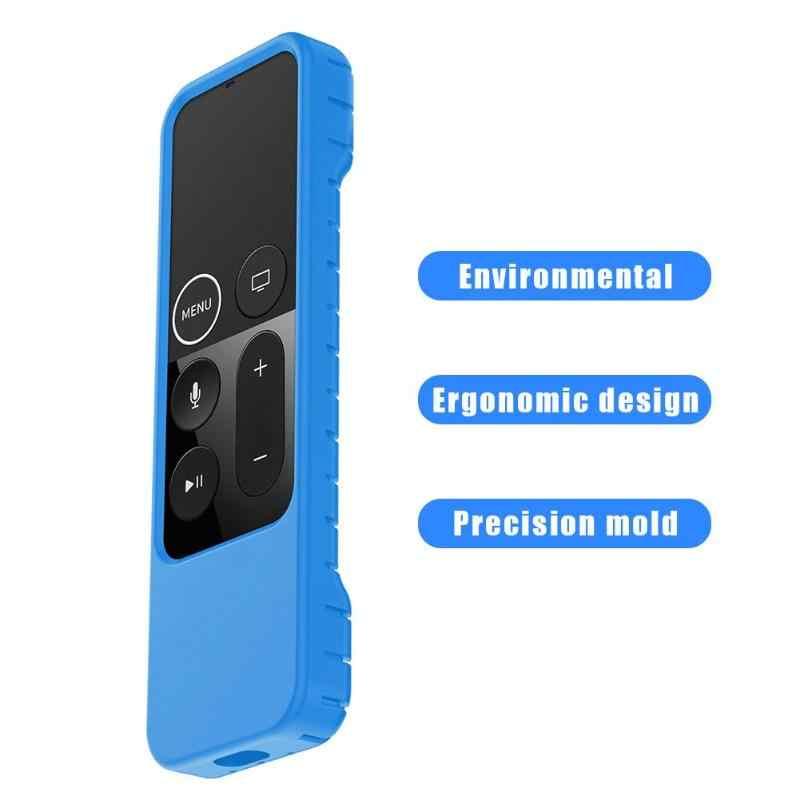 Силиконовый защитный чехол для Apple tv 4 Пульт дистанционного управления черный/синий/оранжевый ABS корпус дистанционного управления