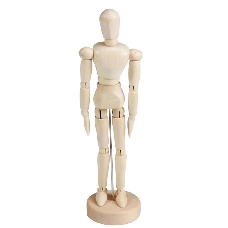 Wooden Figure Model Human Art Mannequin Manikins For Artists Sketch Home Office Desk Decoration Children Toys Gift