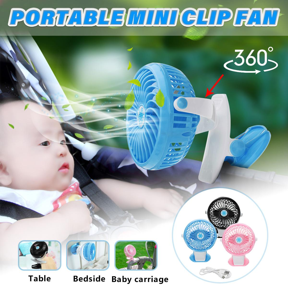 DC 5V-9V Mini Mute Clip Fan Rechargeable for Baby Stroller Fans Portable Air Cooling Desk Table USB Fan for Home Car OfficeDC 5V-9V Mini Mute Clip Fan Rechargeable for Baby Stroller Fans Portable Air Cooling Desk Table USB Fan for Home Car Office