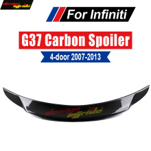 For Infiniti G37 Rear Spoiler Trunk Tail wing Lid Carbon fiber 4-Door Sedan Wing Lip 2007-2013