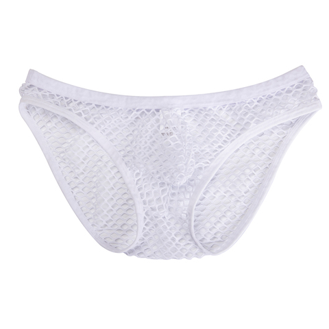 DODOING Hot Sale Large Mesh Sexy Transparent Mens Briefs Breathable Fishnet Men Underwear Gay Slip Hollow Out Briefs Islamabad
