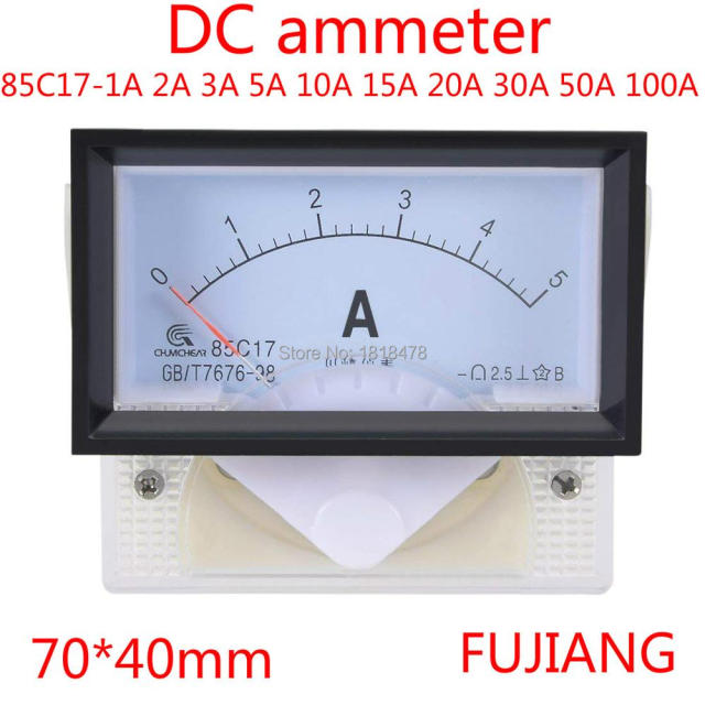 85C17 Analog Current Panel Meter DC 1A 2A 3A 5A 10A 15A 20A 30A 50A 100A Ammeter for Circuit Testing Ampere Tester Gauge