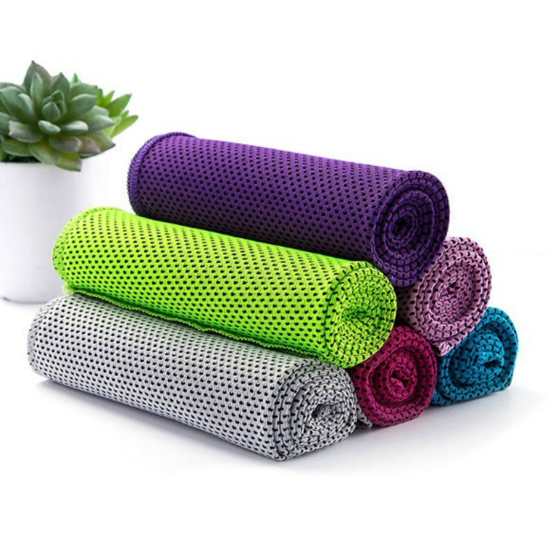 Towel To Wipe Sweat: 1P Cooling Ice Microfiber Towel Sport Cold Feel Motion