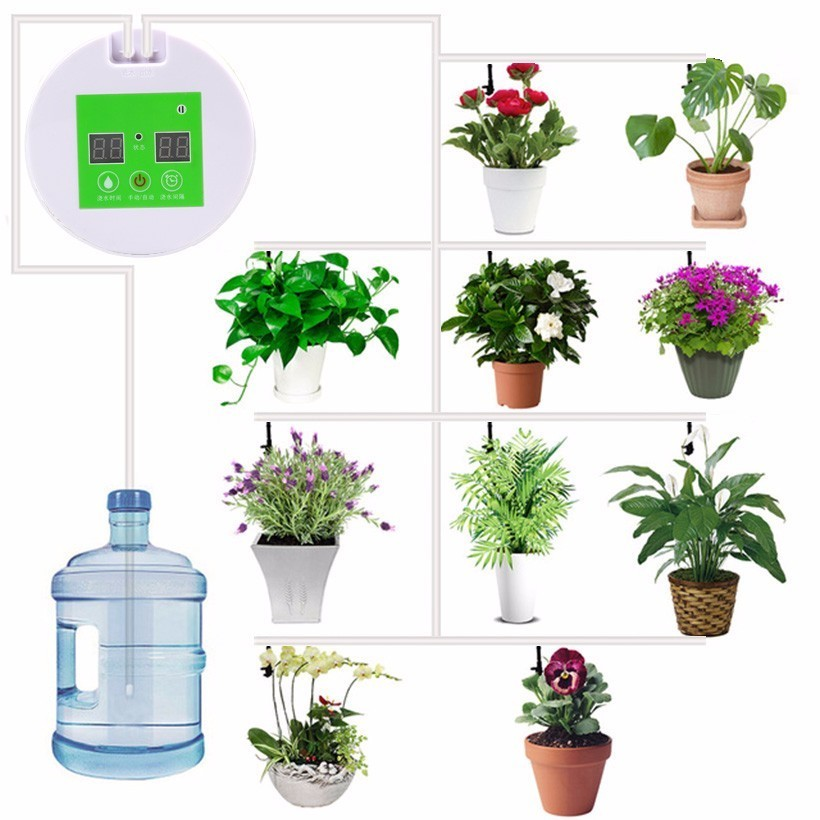 Neue Micro Automatische bewässerung Set Pflanze Bewässerung Timer Garten Wasser Timer Hause Büro wasser Kits bewässerung Werkzeug Pumpe System